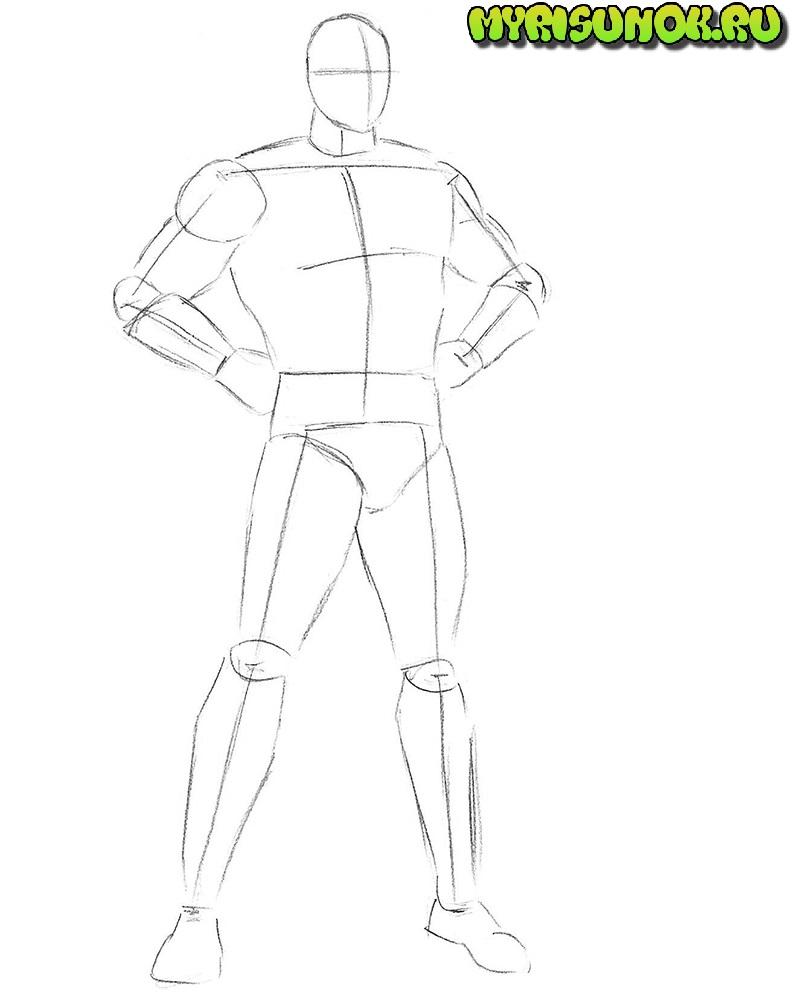Как нарисовать Супермена 3