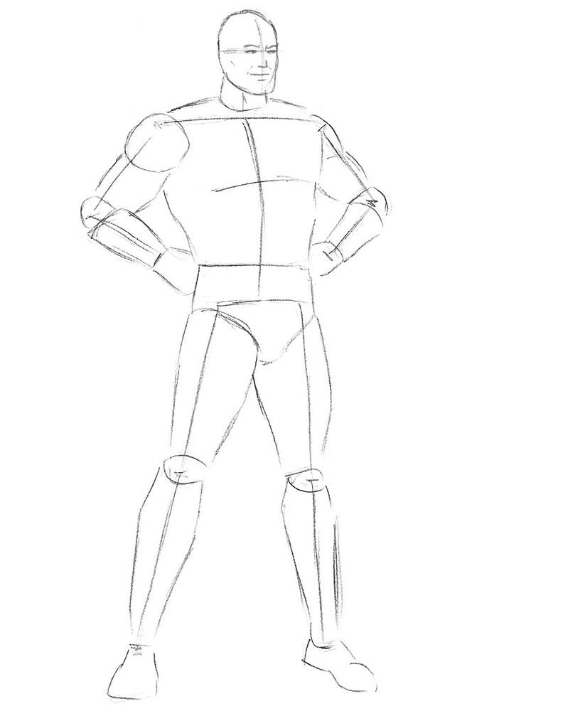 Как нарисовать Супермена 4