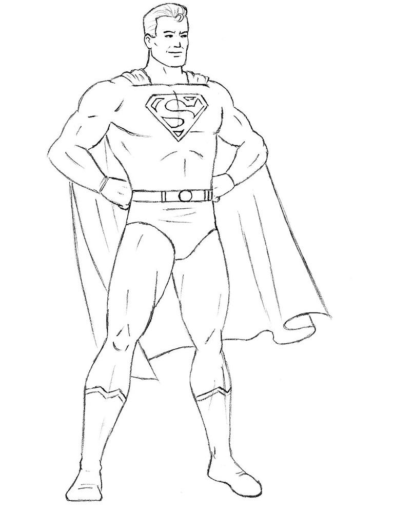 Как нарисовать Супермена 9