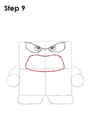 Как нарисовать Гнев из Головоломки