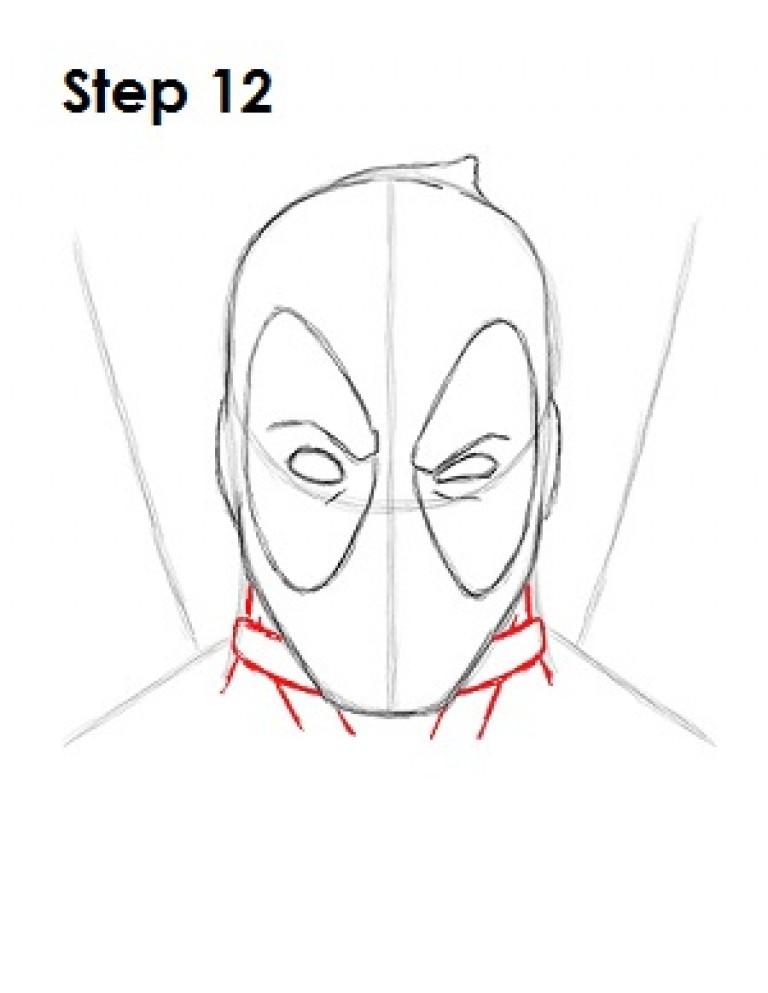 Как нарисовать легко дэдпул 2