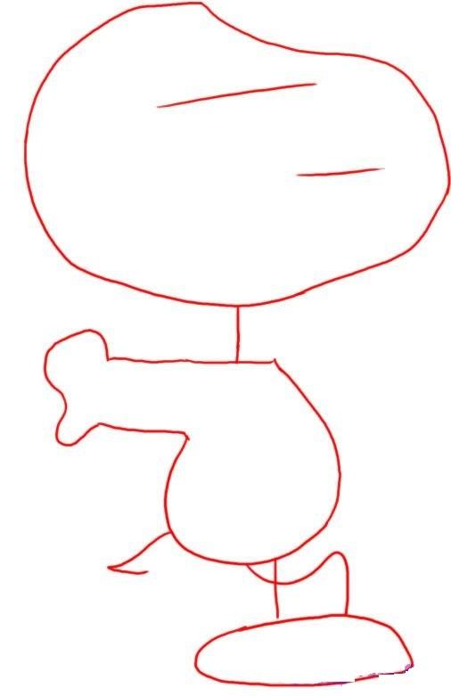 Как нарисовать Снупи