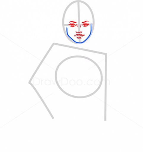 Как нарисовать Рей из ЗВ3