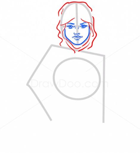 Как нарисовать Рей из ЗВ4