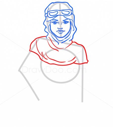 Как нарисовать Рей из ЗВ6