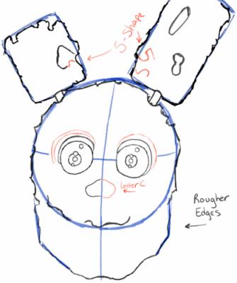 Спрингтрап - как нарисовать аниматроника