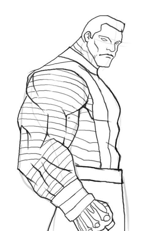 Колосс из комиксов Марвел