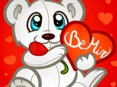 Рисуем мишку с сердцем