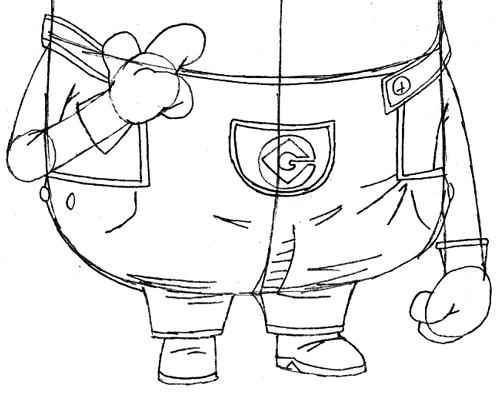 Как нарисовать миньона Тима