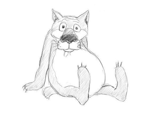 """Как нарисовать волка из м/ф""""Жил-был пес"""""""