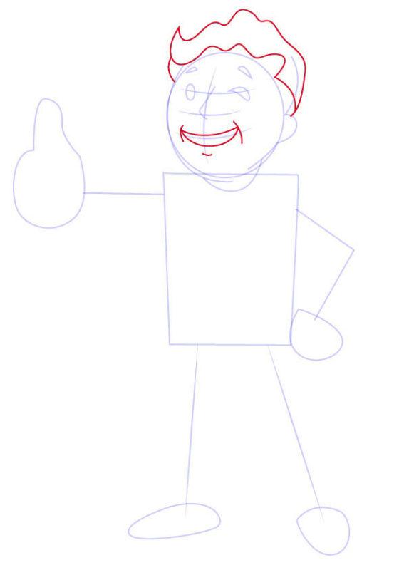 Рисунок Волт Боя 5