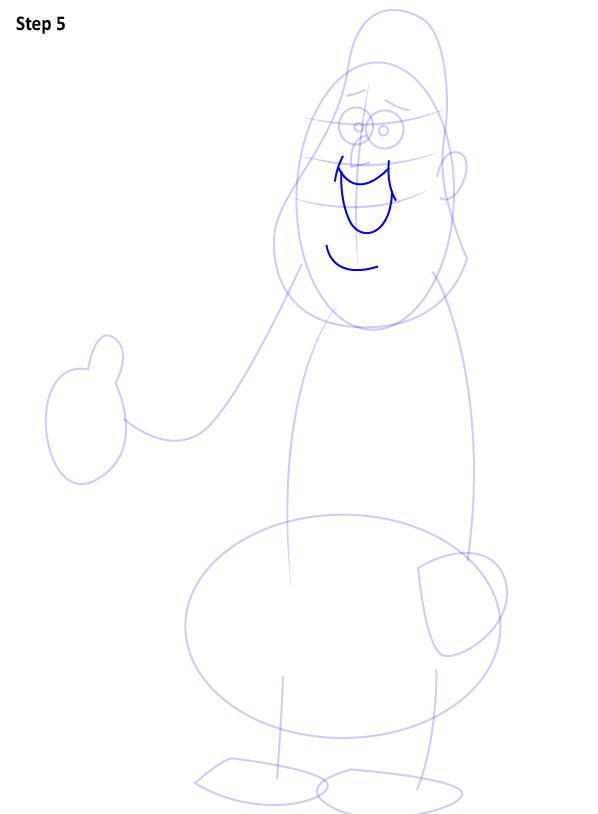 Как нарисовать Суса из Гравити Фолз