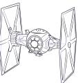 Рисуем истребитель Стар Варс
