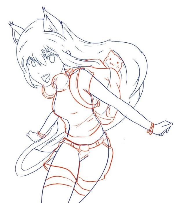 Рисуем аниме девушку