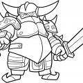 Рисуем ПЕККА из игры Clash of Clans