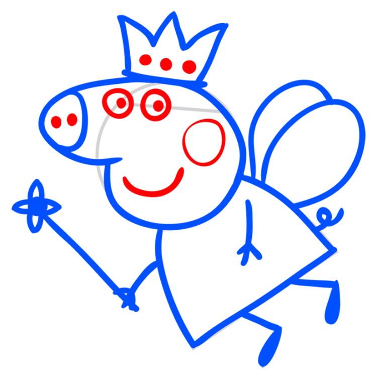картинка карандашом свинки пеппы
