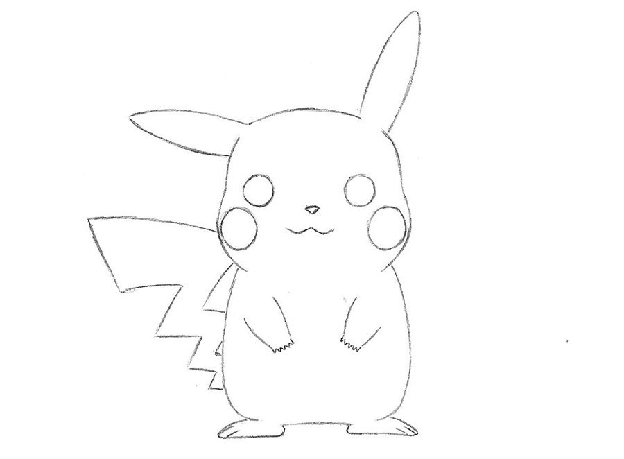 Как нарисовать Пикачу