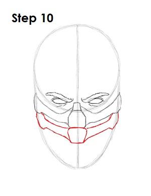 как просто нарисовать Скорпиона из игры 10
