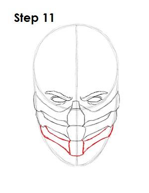 как просто нарисовать Скорпиона из игры 11