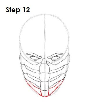 как просто нарисовать Скорпиона из игры 12