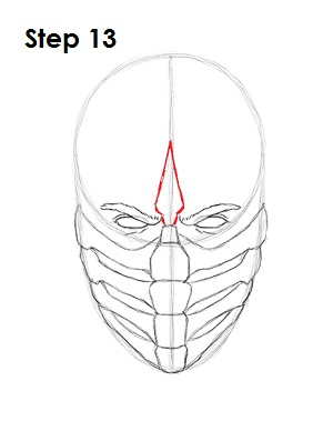 как просто нарисовать Скорпиона из игры 13