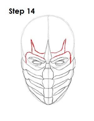 как просто нарисовать Скорпиона из игры 14