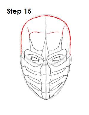 как просто нарисовать Скорпиона из игры 15