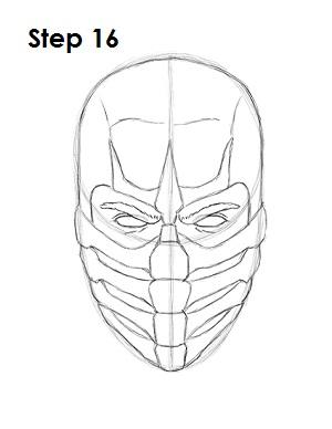 как просто нарисовать Скорпиона из игры 16