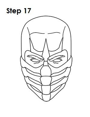 как просто нарисовать Скорпиона из игры 17