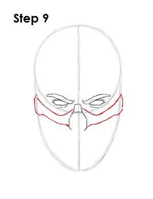 как просто нарисовать Скорпиона из игры 9