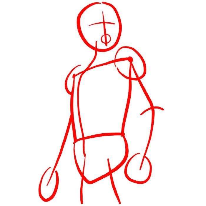 как поэтапно нарисовать Человека муравья 1