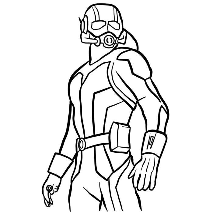 как поэтапно нарисовать Человека муравья 13
