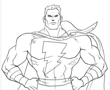 Как нарисовать Шазама из комиксов
