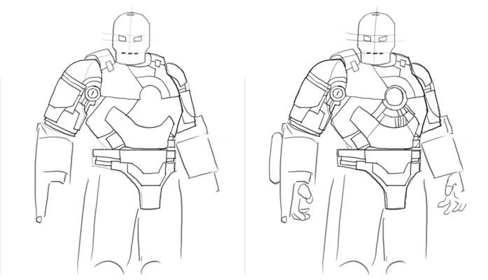 Урок рисования Железного человека 2