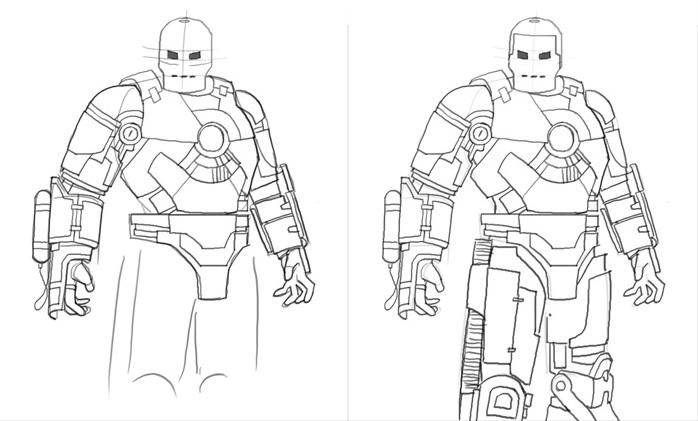 Урок рисования Железного человека 3