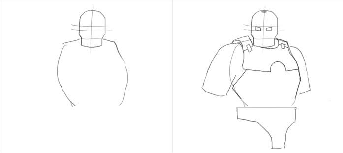 Урок рисования Железного человека