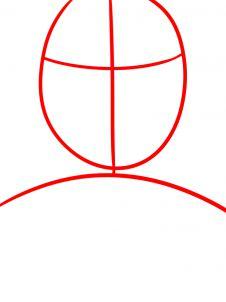 как нарисовать маску Человека муравья 1