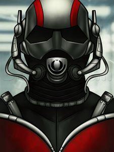 как нарисовать маску Человека муравья 10