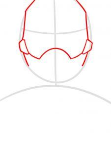 как нарисовать маску Человека муравья 2