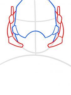 как нарисовать маску Человека муравья 3