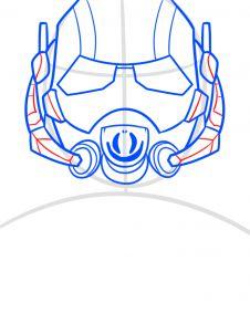 как нарисовать маску Человека муравья 6