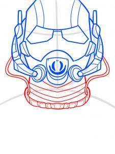 как нарисовать маску Человека муравья 7