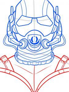 как нарисовать маску Человека муравья 8