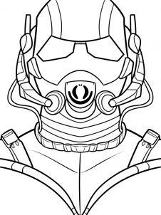 как нарисовать маску Человека муравья 9