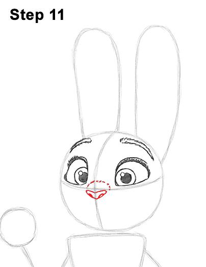 Как нарисовать Джуди Хоппс из Зверополиса