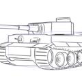 Как нарисовать танк Тигр