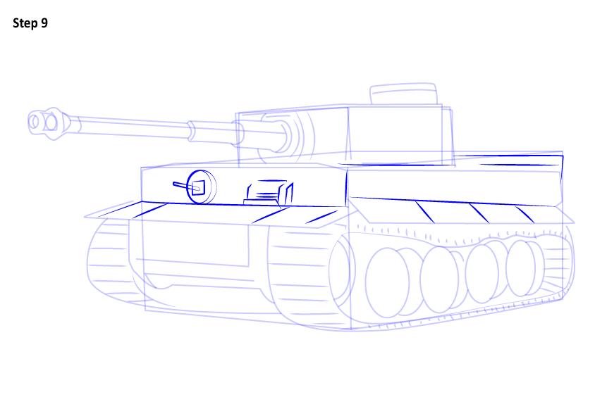 картинки танк тигр карандашом тротуарной плитки