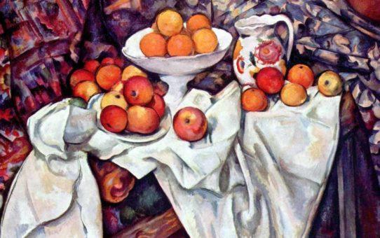 Сезанн, Поль. Натюрморт с яблоками и апельсинами.