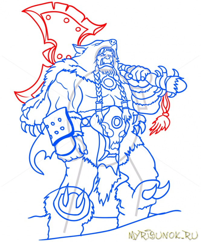 Как нарисовать орка Дуротана