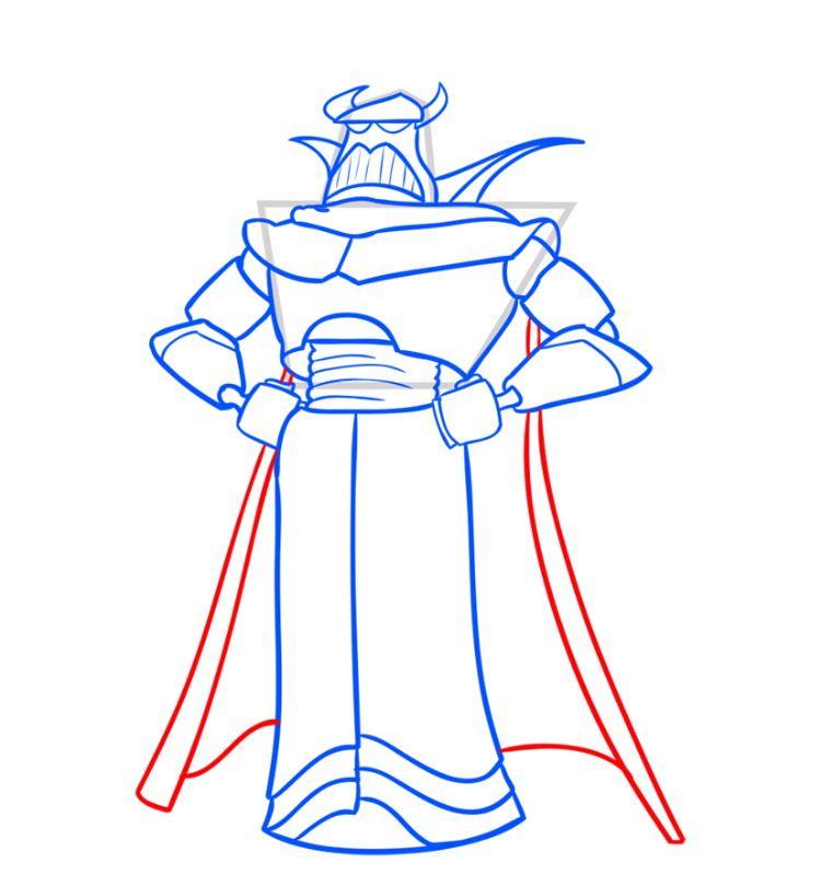 Как нарисовать императора Зурга
